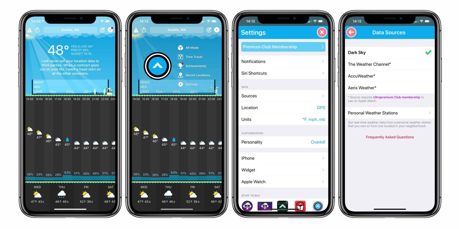 Carrot Weather gets major update with new weather source