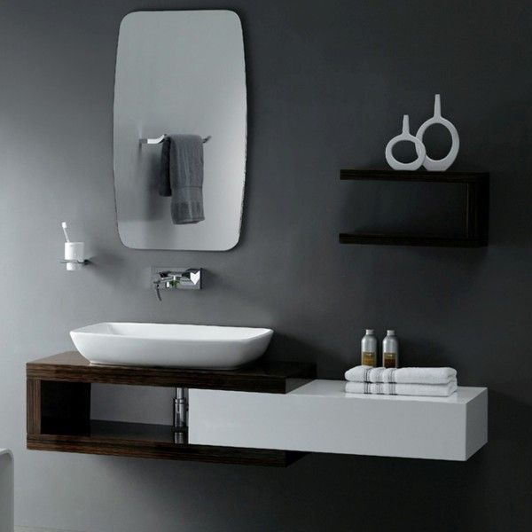 adorable large rectangular bathroom mirror. furniture adorable small black bathroom vanities with rectangular porcelain  vessel sink and wall mounted faucets using