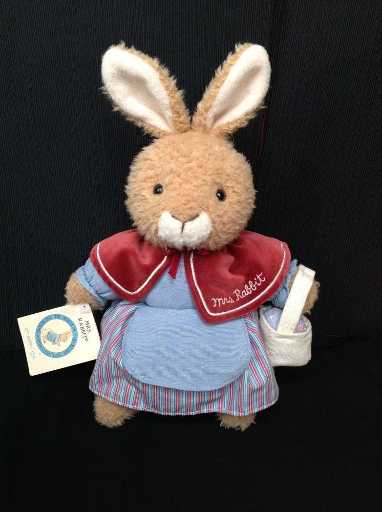 Beatrix Potter Mrs. Rabbit Peter Rabbit New Plush Stuffed Animal Easter Bunny #Eden