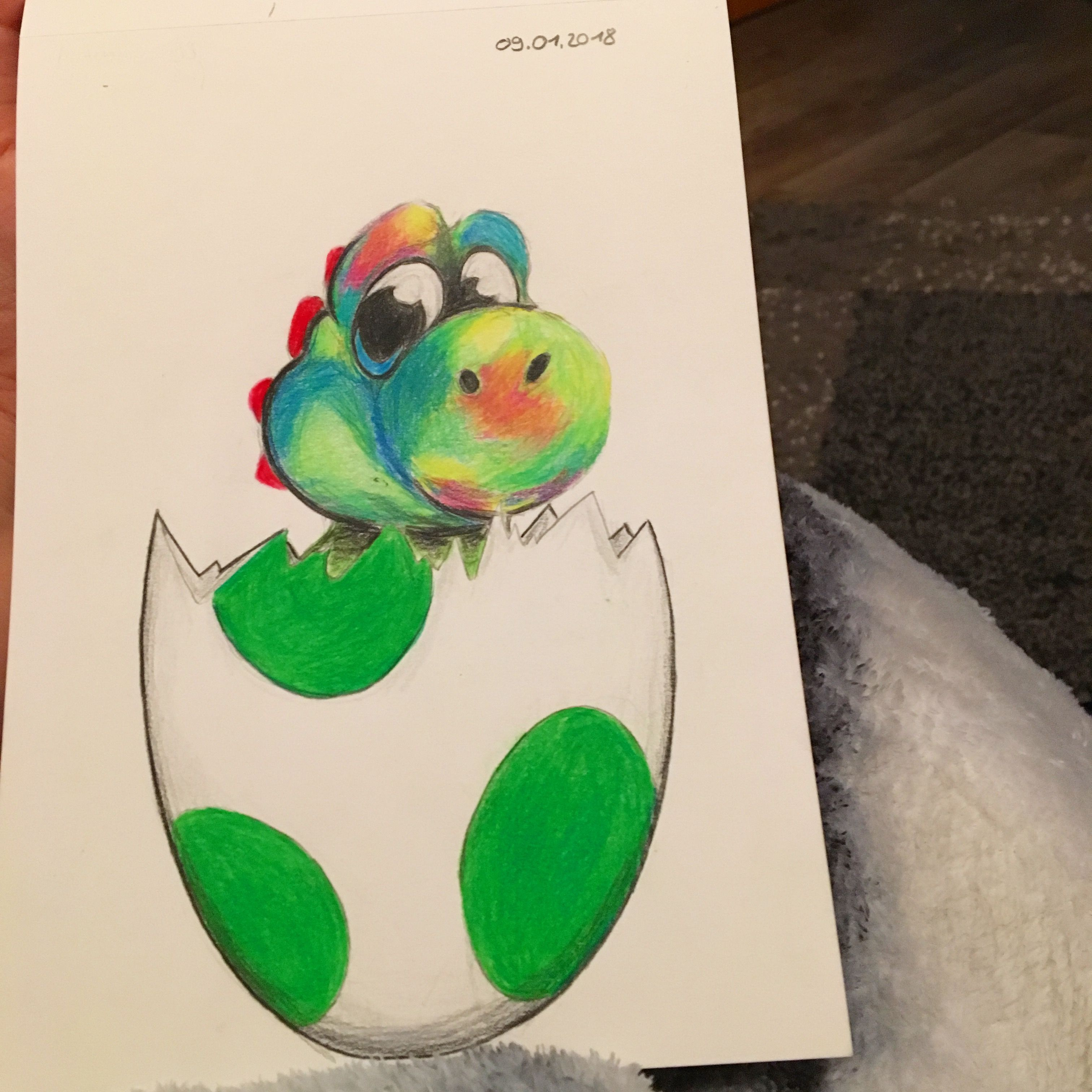 Yoshi Egg My Little Drawing Try S Drawing Nintendo