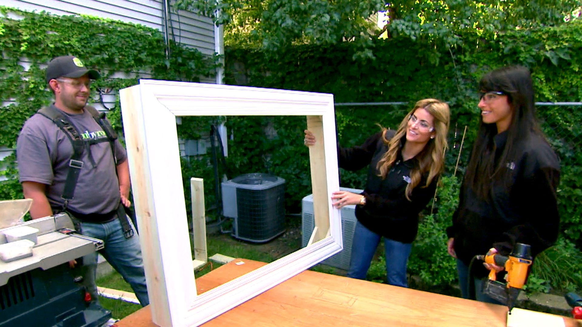 This shadow box TV frame adds class and charm to your wall-mounted ...