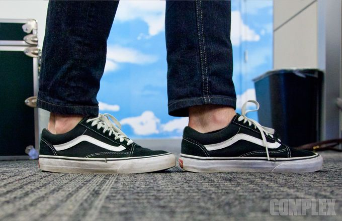 vans old skool sk8 hi on feet