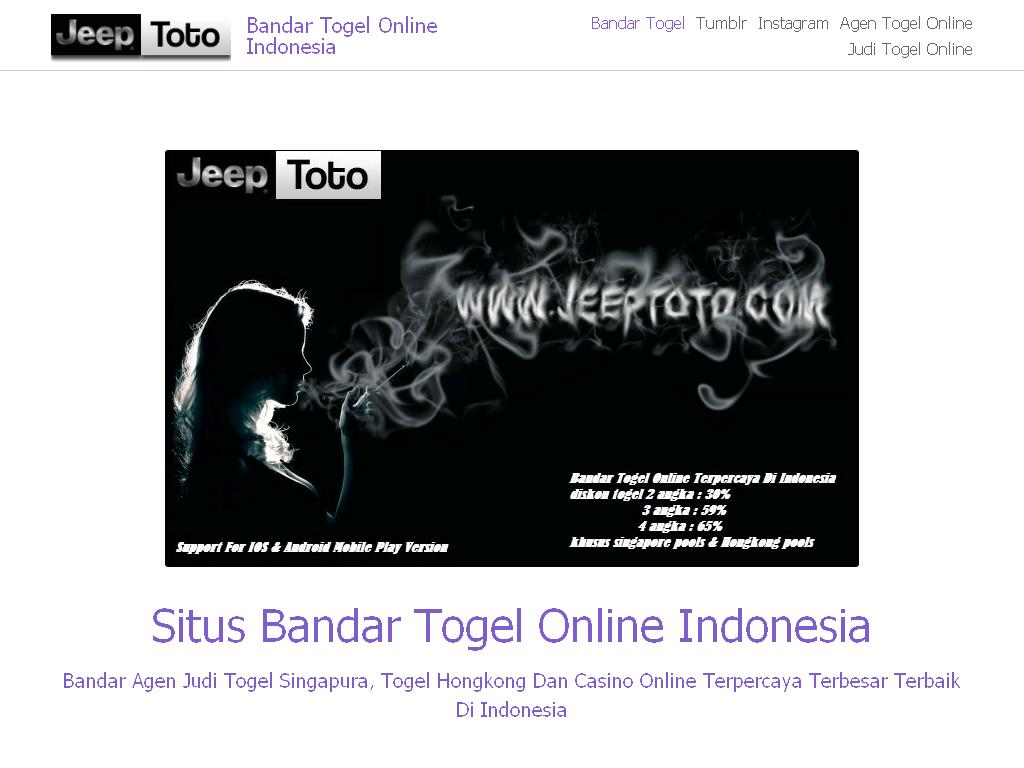 Bandar Togel Online Indonesia on Strikingly | archive.is | Pinterest ...