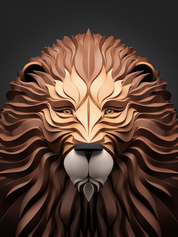Artwork by Maxim Shkret Maxim Shkret is an artist and designer from Krasnodar, Russia. In a series entitled Predators on Behance, Shkret created an awesome series of animal portraits using 3...