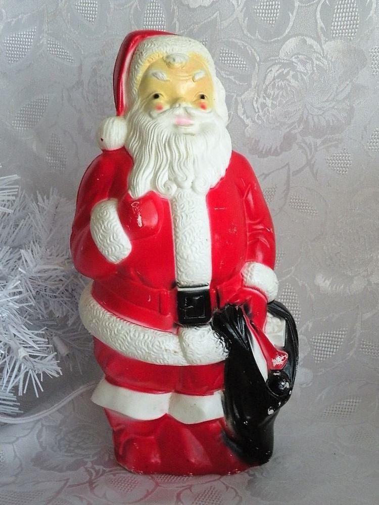 vtg santa claus blow mold xmas decor 13 lighted empire 1968 holidays decoration