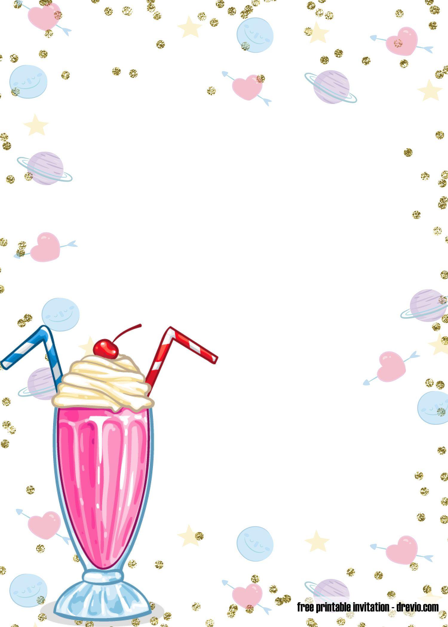 Free Printable Ice Cream Birthday Invitation Templates Ice Cream Invitation Ice Cream Party Invitations Printable Unicorn Birthday Invitations