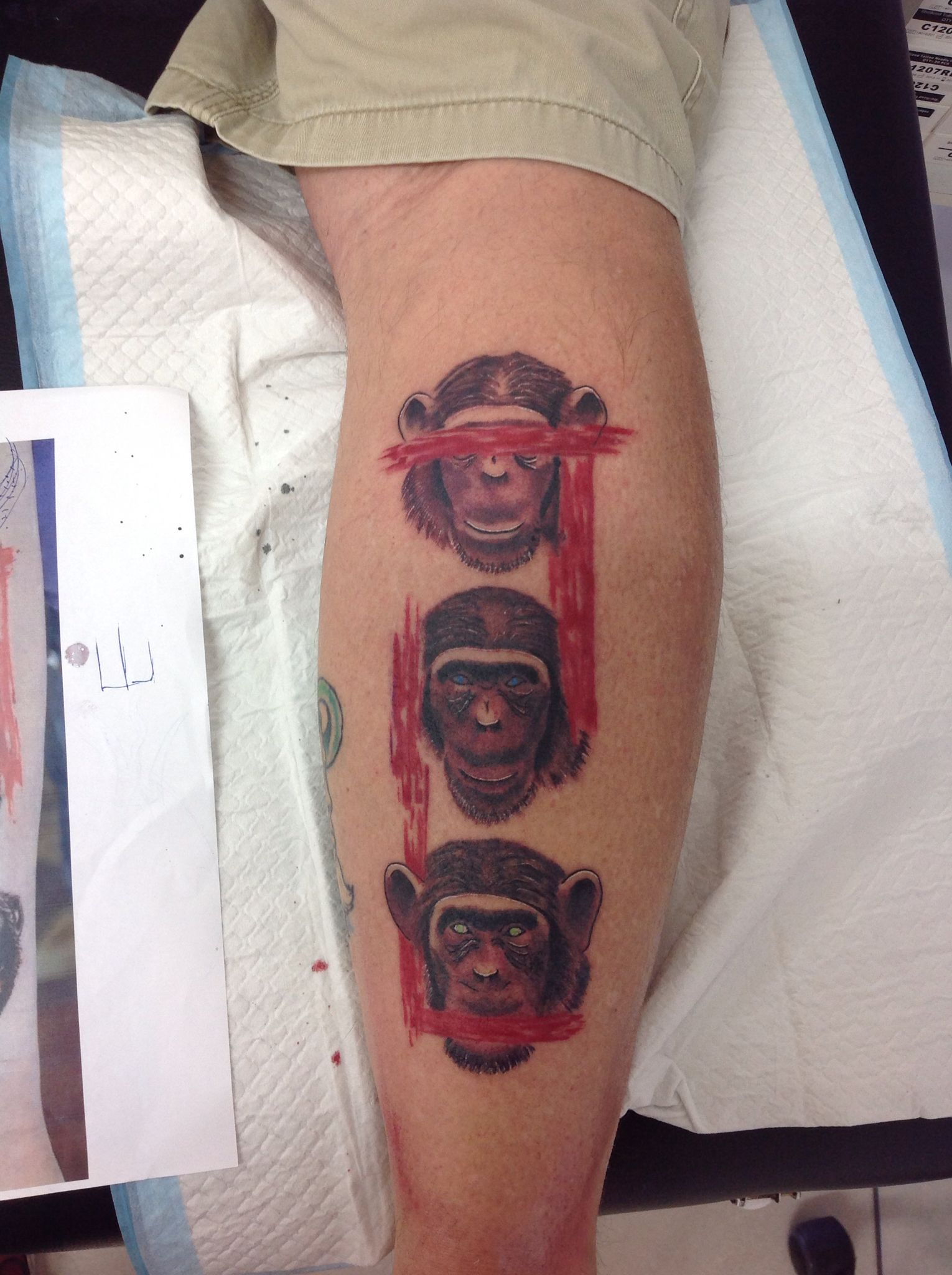 three wise monkeys tattoo tattoos pinterest affen tattoo drei affen und tattoo ideen. Black Bedroom Furniture Sets. Home Design Ideas