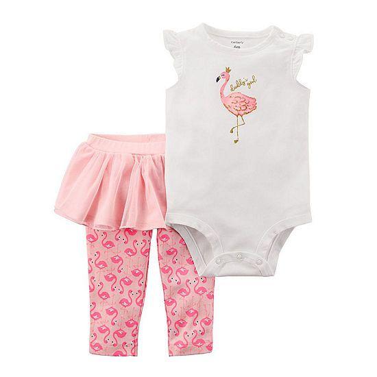 dc9fce4cab0b Carter s Flamingo Bodysuit   Tutu Legging 2 Piece Set - Baby Girl NB ...
