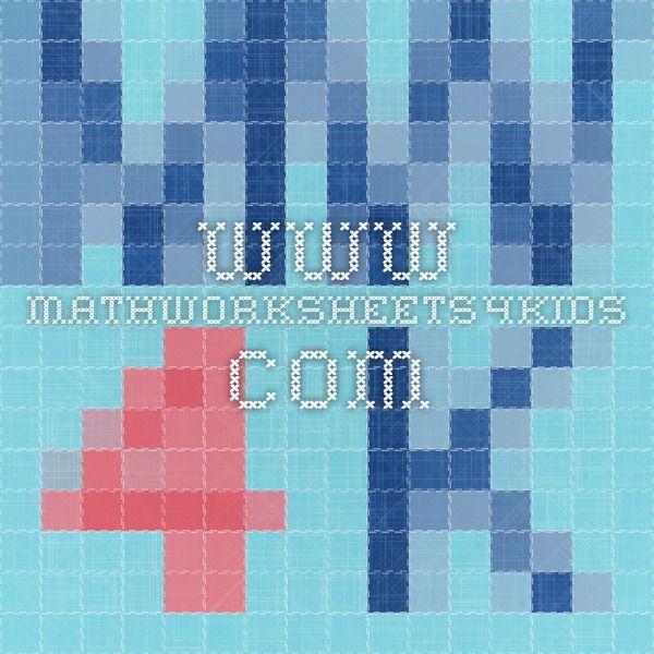 www.mathworksheets4kids.com | Math | Pinterest | Math worksheets ...
