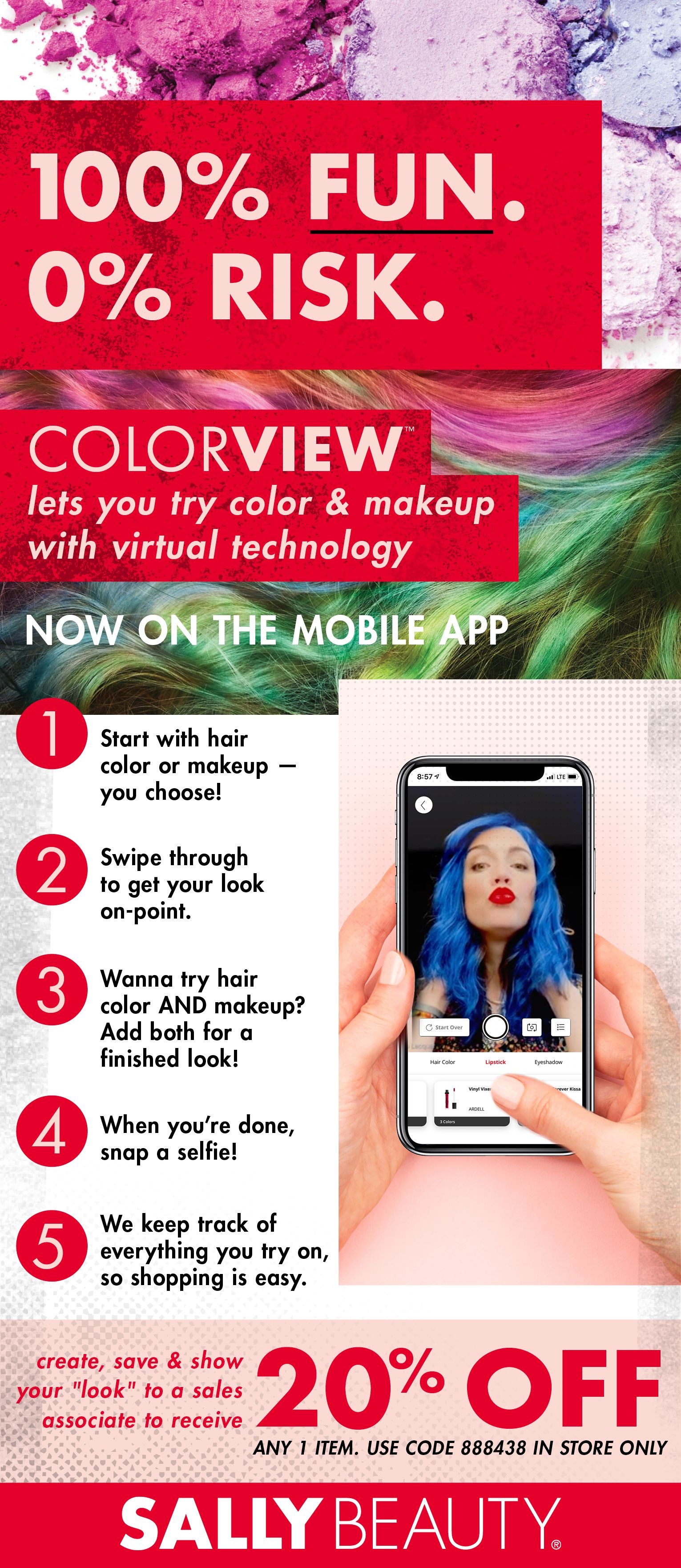 Now you can try hair color and cosmetics without the