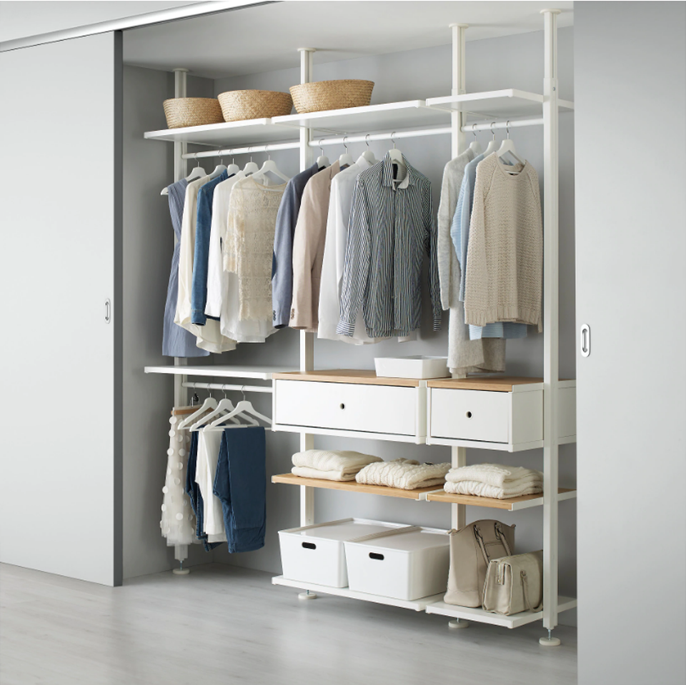 5 Stylish Closet Organizer Systems With Supreme Functionality In 2020 Closet Organizing Systems Bedroom Storage Ikea