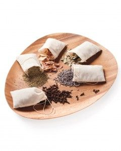 Lists ingredient suggestions for sachets