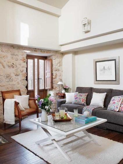 Un d plex decorado con mucho encanto en 2019 decoraci n pinterest casas casas r sticas y - Salones con encanto ...