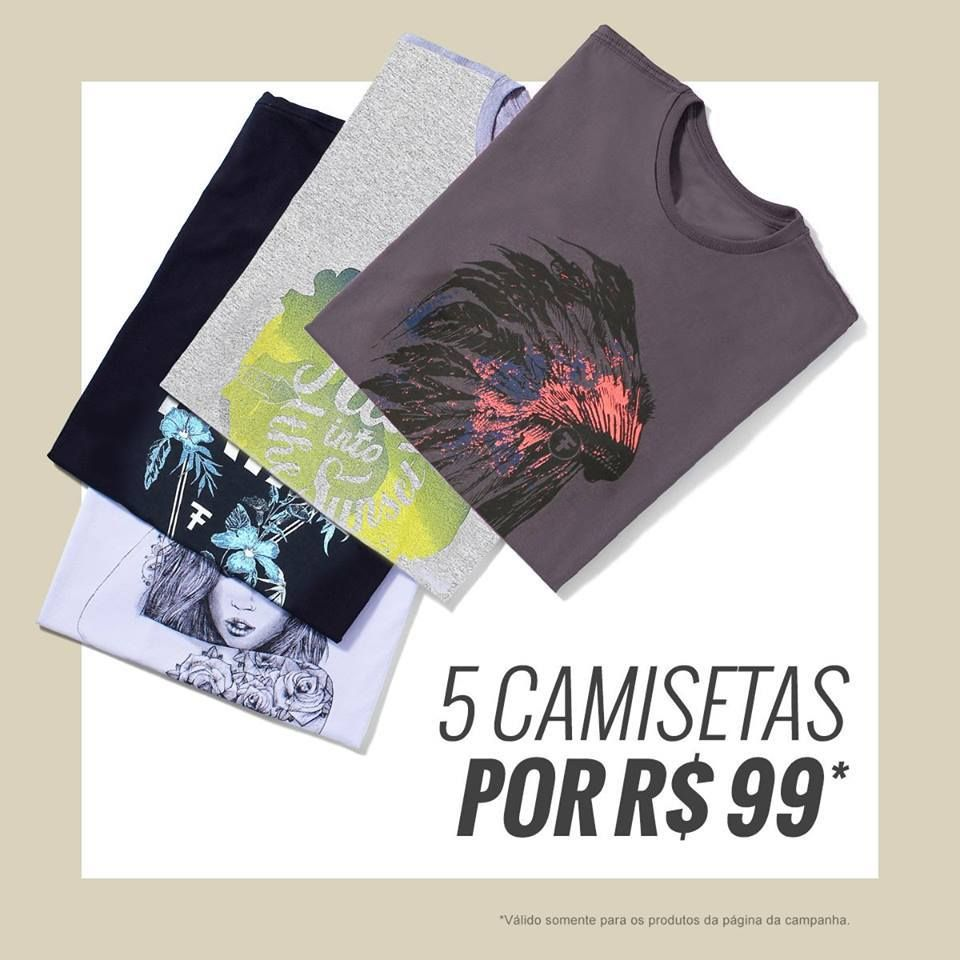 d687ee33ef Kanui 🔥 🔥 5 Camisetas por  R  99 ➡ Use o Cupom👉 5CA99M 3 ...