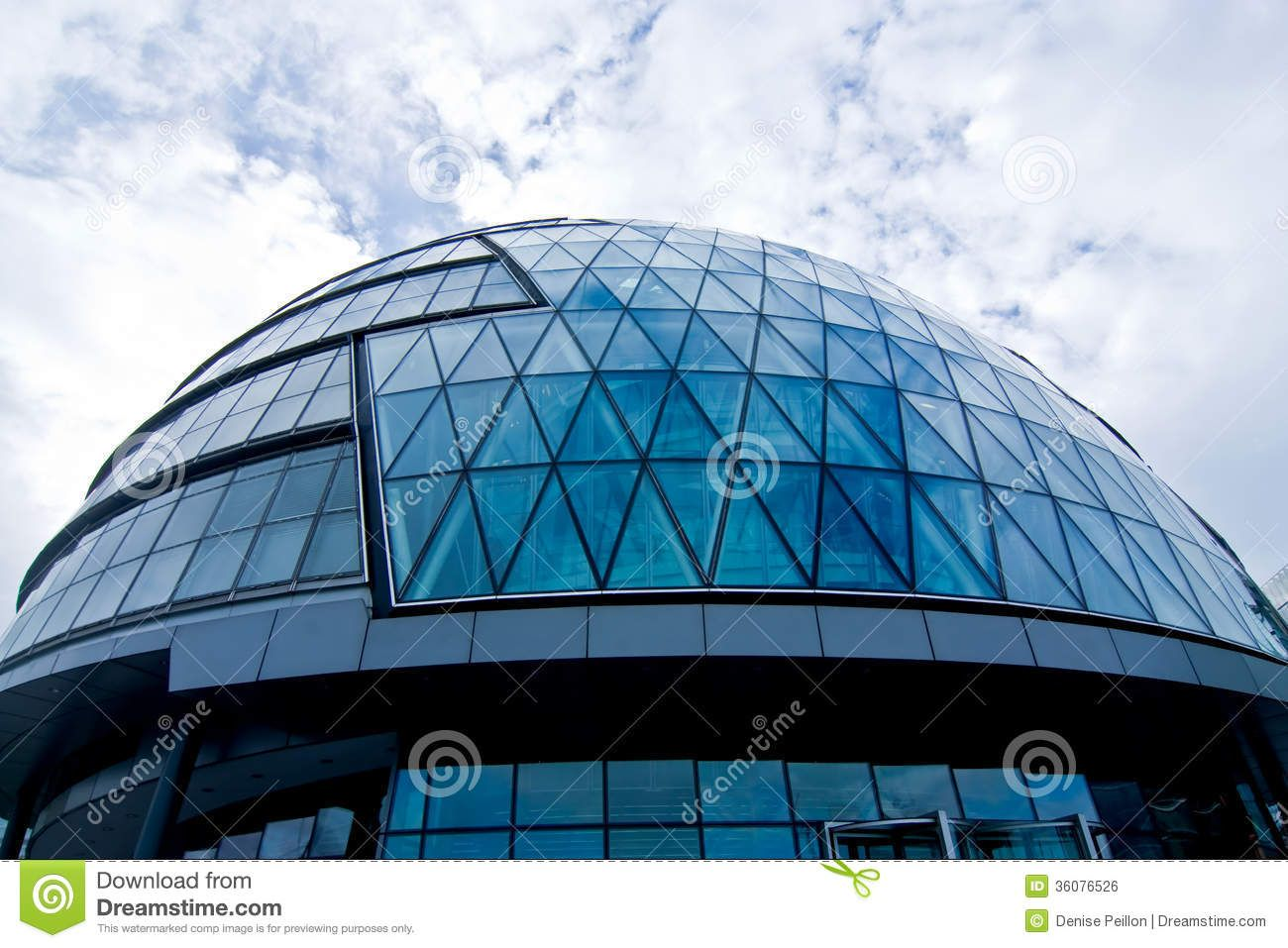 Modern building with glass dome | Geodesic Dome Structures ...
