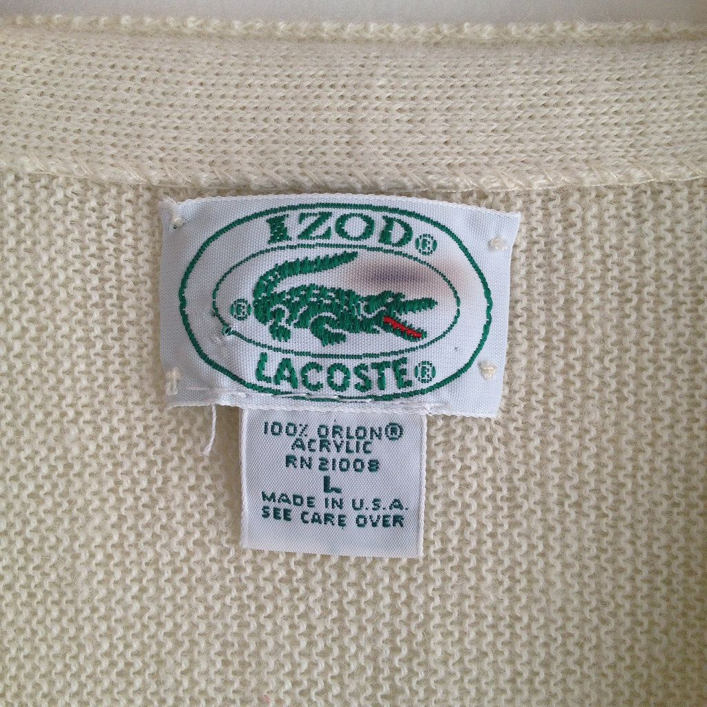 Izod Lacoste Vintage Label Vintage Labels Vintage Tags Vintage Outfits