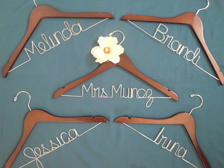 Personalized bridal hanger, modern bride, bridal party. $26.00, via ...