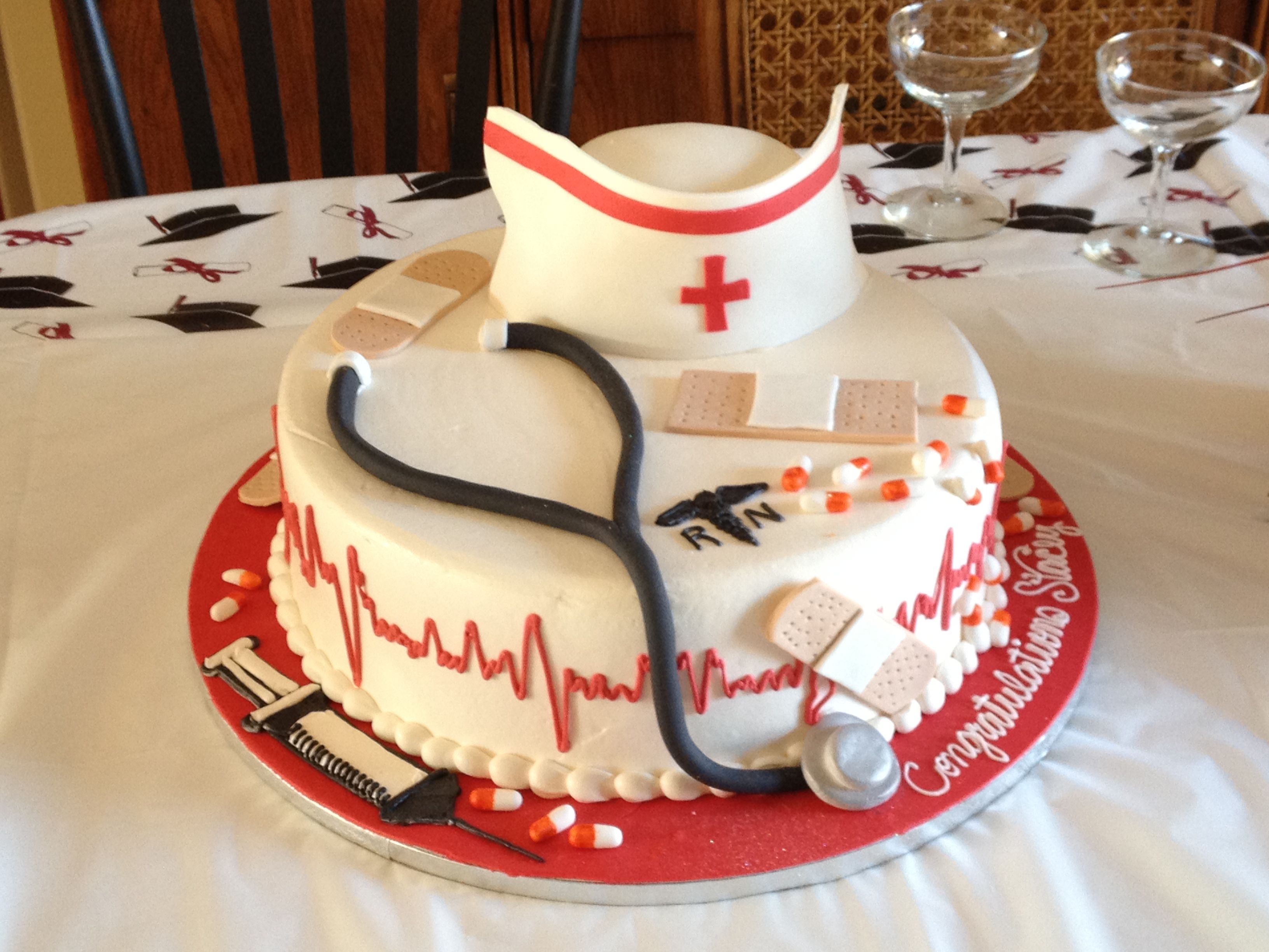 Nursing School Grad Cake