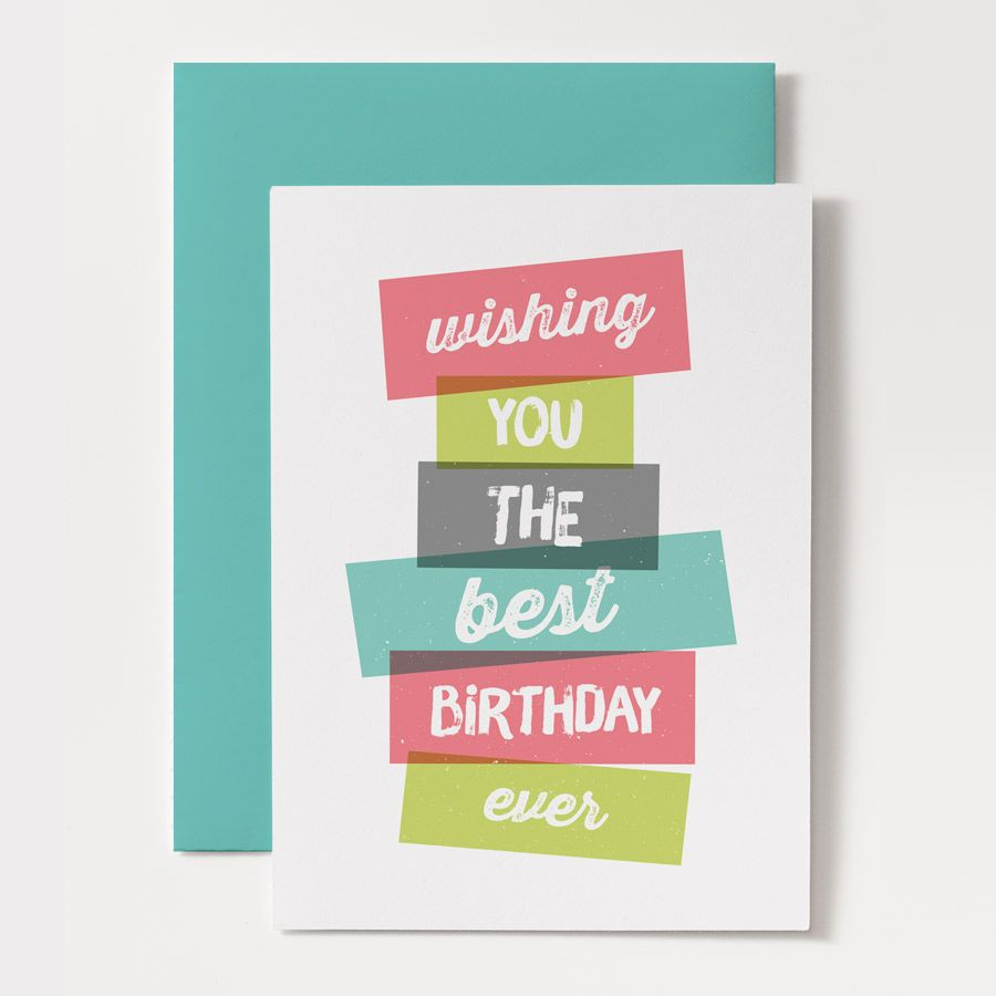printable birthday card - stacked | mail art and handmade cards