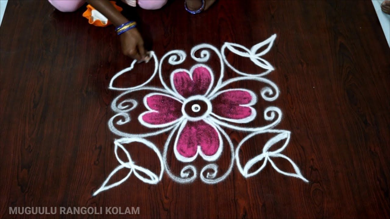 Dasara Rangoli Designs With Colours Diya Kolam Without Dots Daily