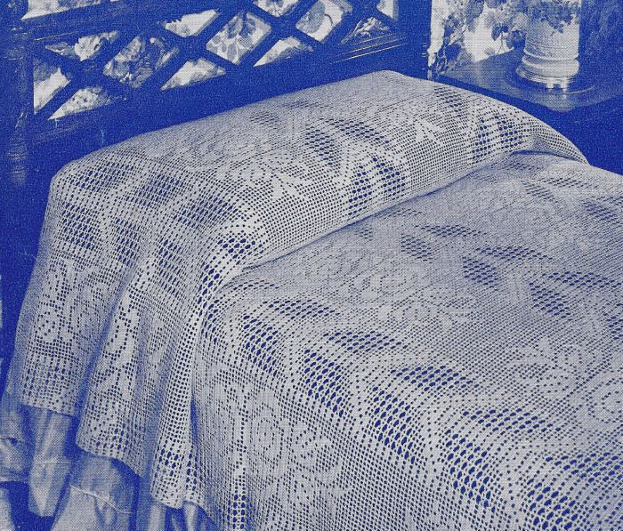 Crochet bedspread patterns free - cover piece slip two … | Pinterest