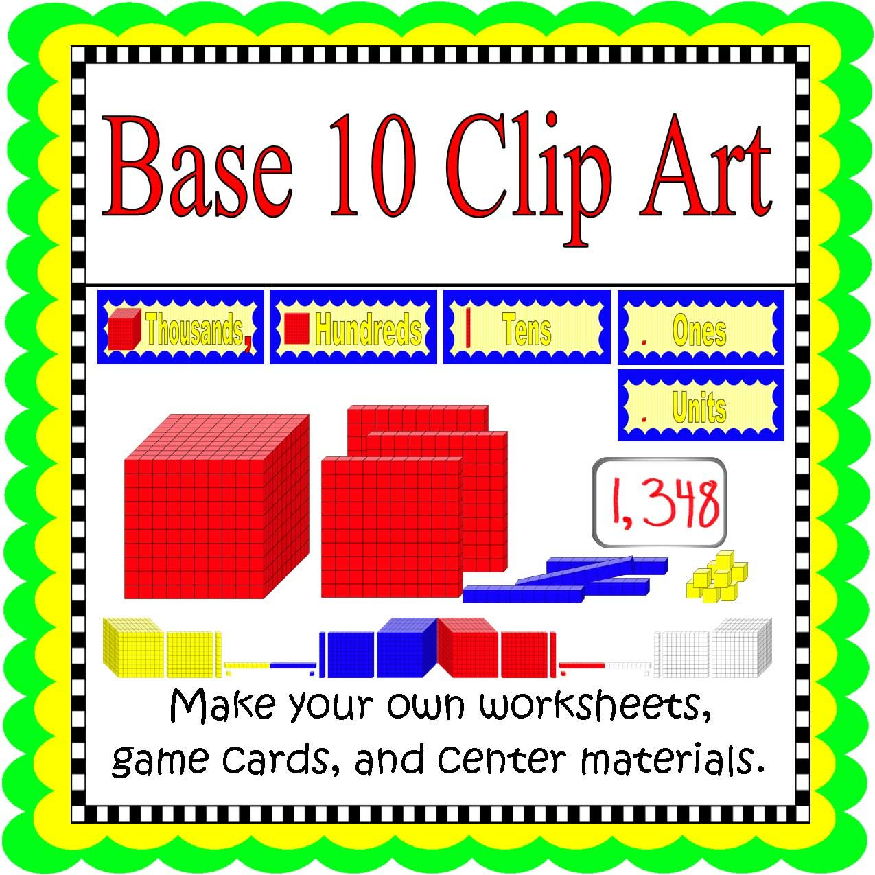 Download this set of Base Ten Clip Art to make your own games ...
