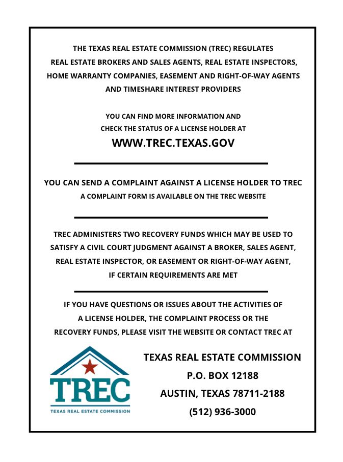 Trec Disclosures Image By Houston New Home Team Texas Real Estate Consumer Protection Real Estate