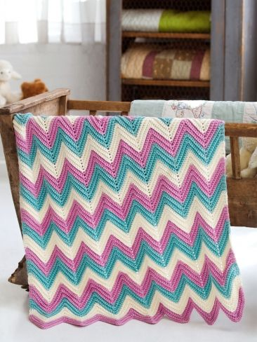 Zig Zag Baby Blanket Yarn Free Knitting Patterns Crochet