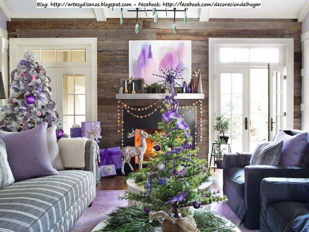 decorar la casa para navidad con tonos lila violeta diseo y decoracin del hogar design