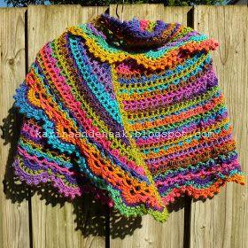 Karin Aan De Haak Halve Maan Sjaal Crescent Shawl Crochet