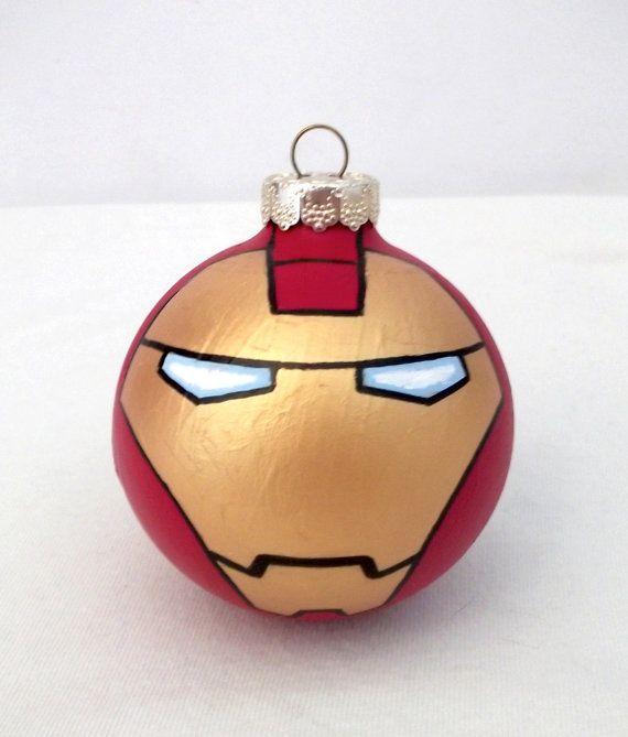 Avengers Iron Man Painted Holiday Christmas Ornament by GingerPots, $16.00 - Avengers Iron Man Painted Holiday Christmas Ornament By GingerPots