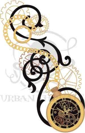 Clockwork Magic - Pocket Watch design (UTC2345) from UrbanThreads.com