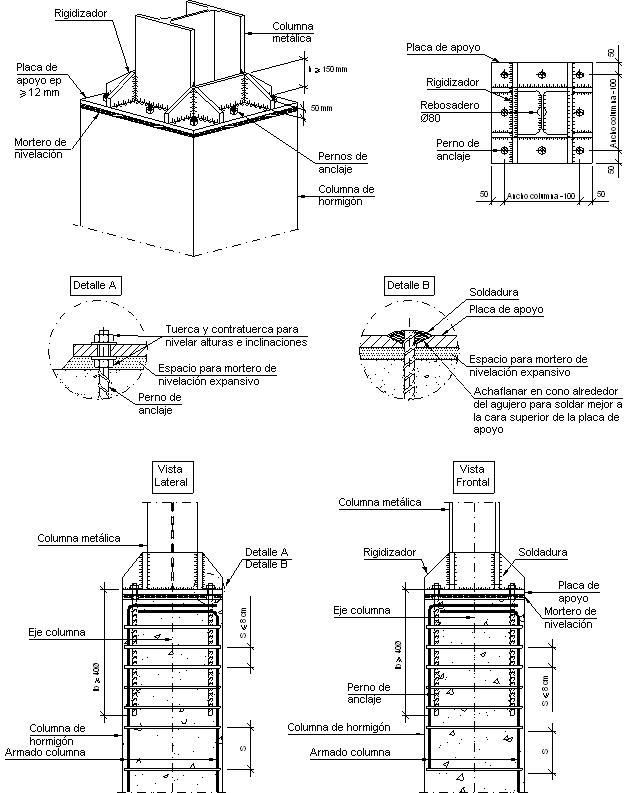 Detalles Constructivos Cype Eam013 Empalme De Columna Metalica Con Columna Detalles Constructivos Edificios Con Estructura De Acero Construcciones De Metal