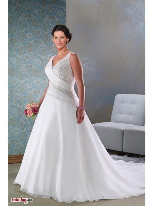 Vestido de novia para mujeres con curvas.¡Precioso! --- \