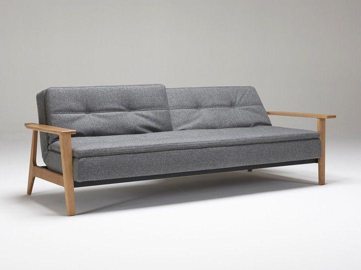 Innovation Dublexo Frej Schlafsofa 3-Sitzer mit Armlehnen 558 Textil