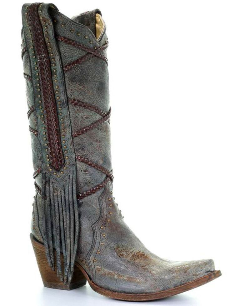 7bef7b64830 Corral Women's Braided Fringe Cowgirl Boots - Snip Toe in 2019 ...