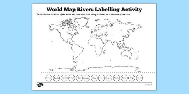 Pin by elia nataly on rivers map pinterest activities and geography world map animal habitat labelling activity world map habitat gumiabroncs Gallery