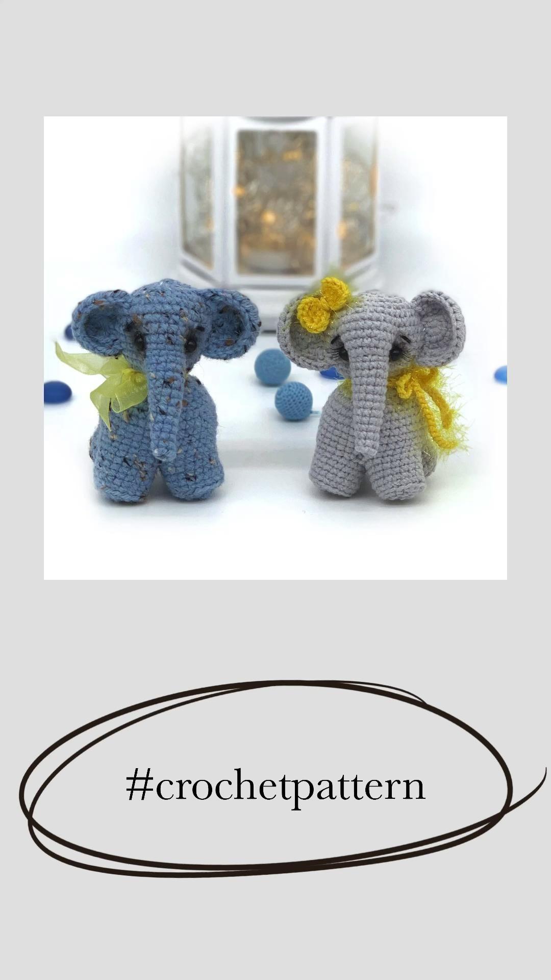 Crochet Elephant pattern Amigurumi baby Elephant p