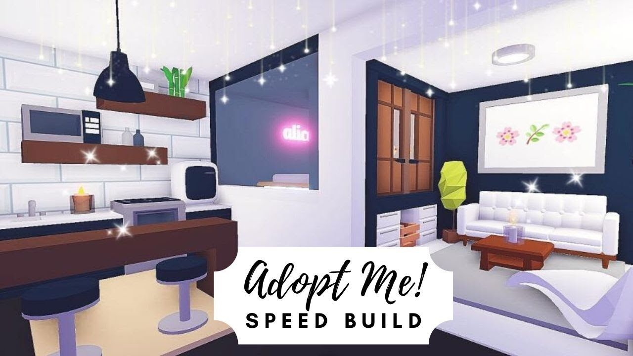 Tiny Modern Aesthetic House Speed Build Roblox Adopt Me Modern Tiny House Small Room Interior Home Roblox