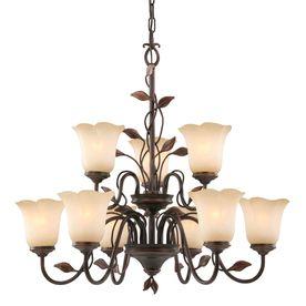 Allen Roth Eastview 9 Light Dark Oil Rubbed Bronze Chandelier Dining Room