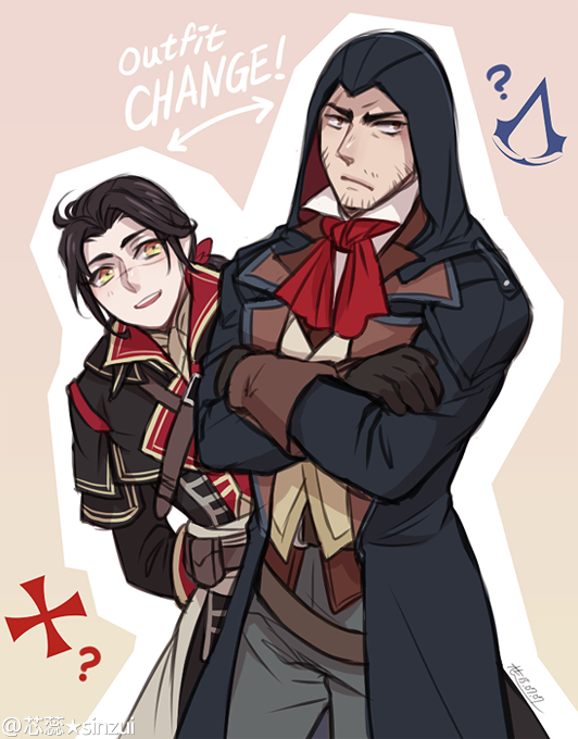 Ac Shay And Arno By Graphitedoll Https Www Tumblr Com Following