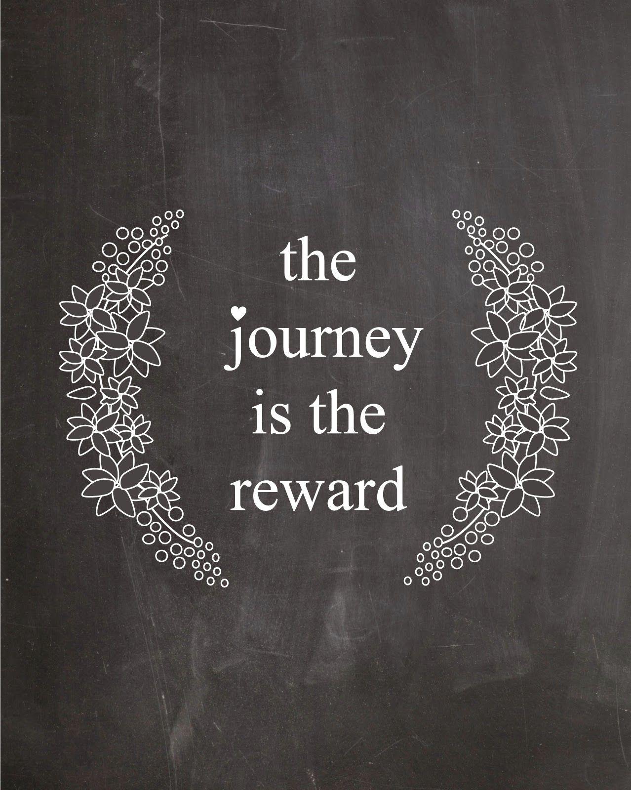 the journey is the reward via neato bonito