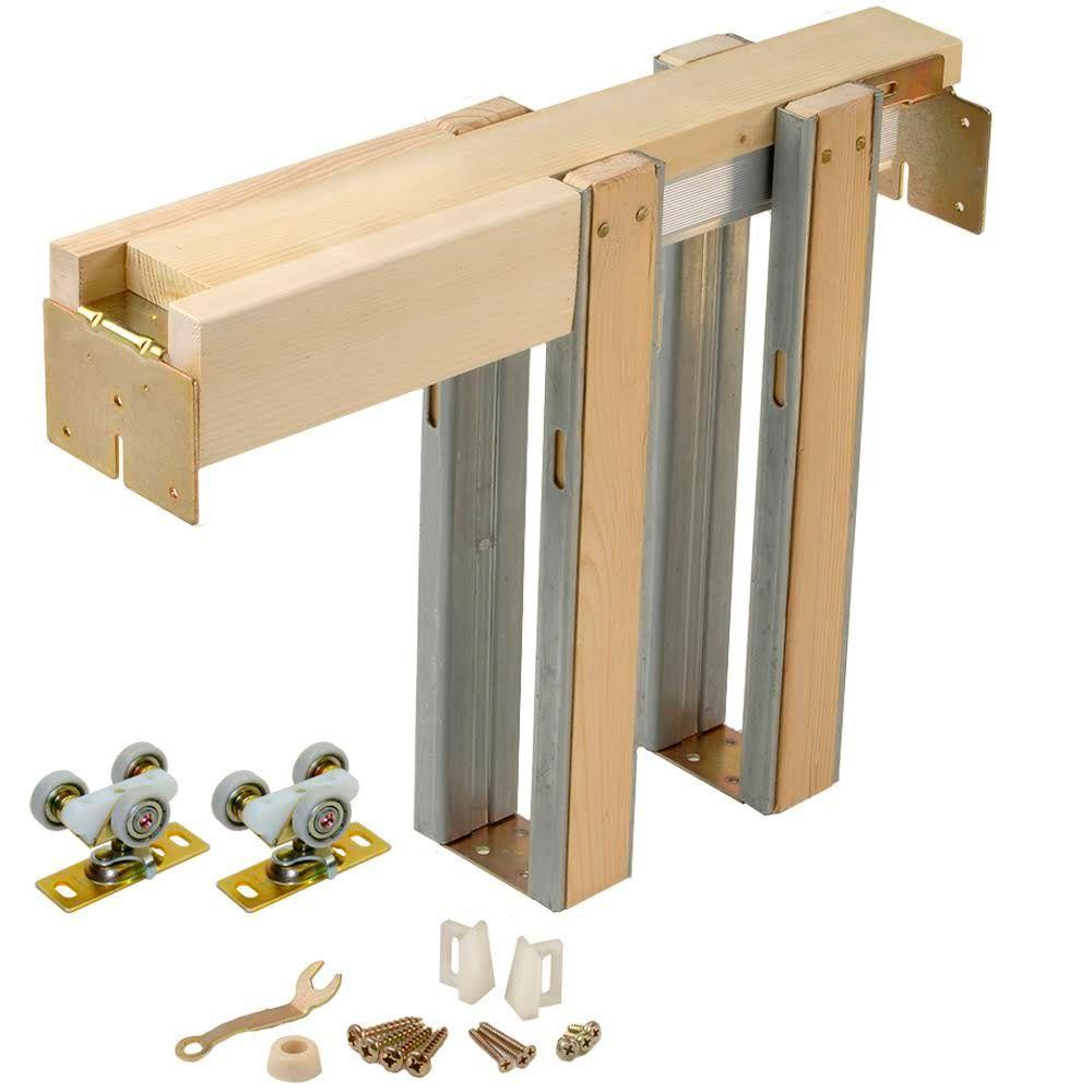 Johnson Hardware 1500 Series 36 In X 96 In Pocket Door Frame For 2x4 Stud Wall 153080hd The Home Depot Pocket Door Frame Pocket Doors Door Frame