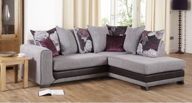 Leather Sofas Danni Corner Group LHF Arm RHF Chaise Scatter Back