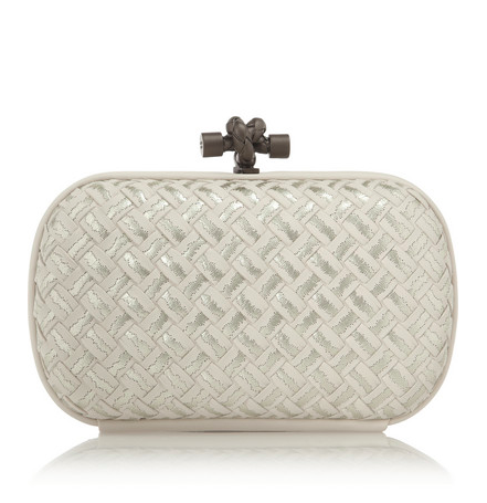 BOTTEGA VENETA - The Knot embroidered intrecciato leather clutch
