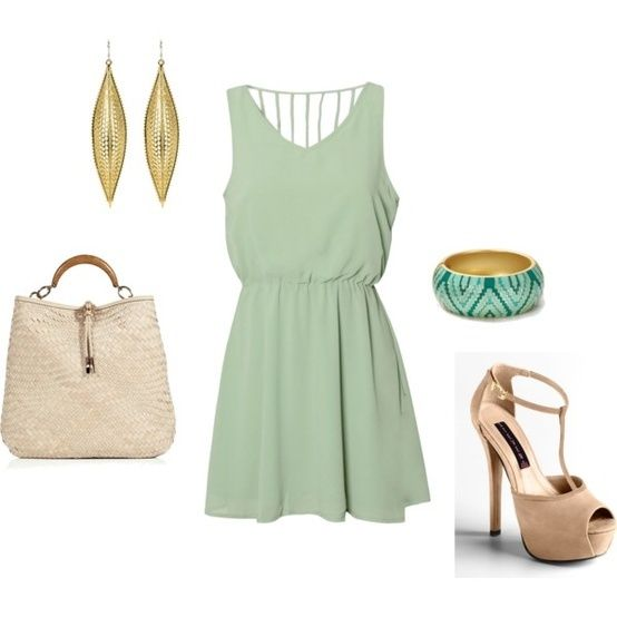 light green dress combination of clothes fashion wear accessories  http   www.womans 2612b2b4d41