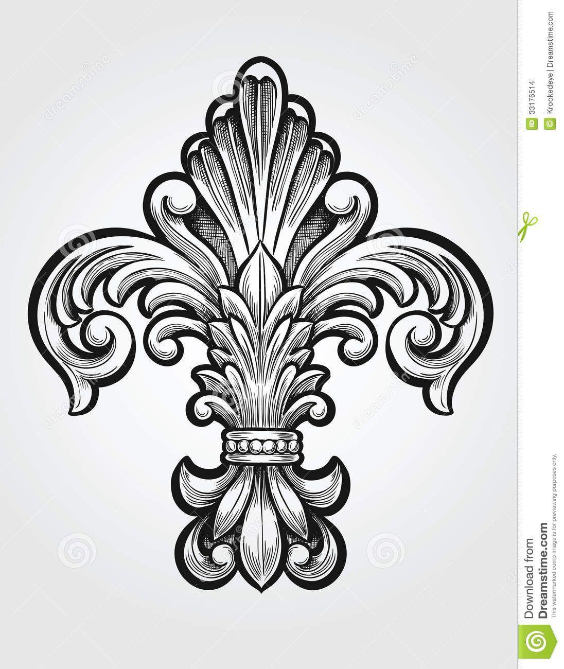 Elegant Cross Clip Art Elegant fleur de lis vector