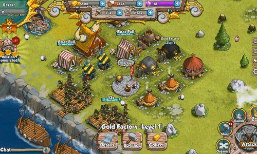 Vikings Gone Wild is a Facebook based social game, Massively