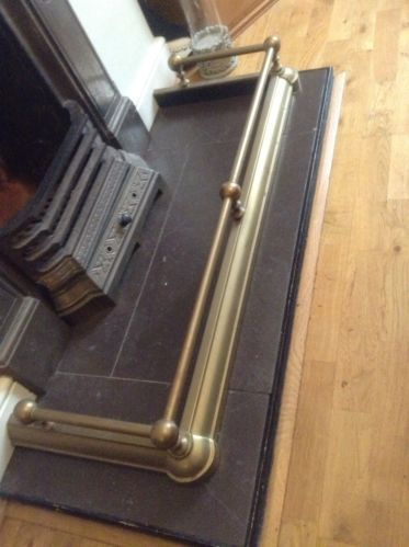 Brass Fire Place Fender Depth Approx 15 Inner Width Approx 38