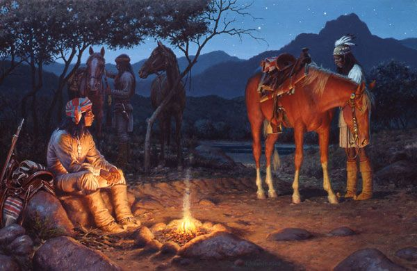 Moonlit Camp by David Nordahl